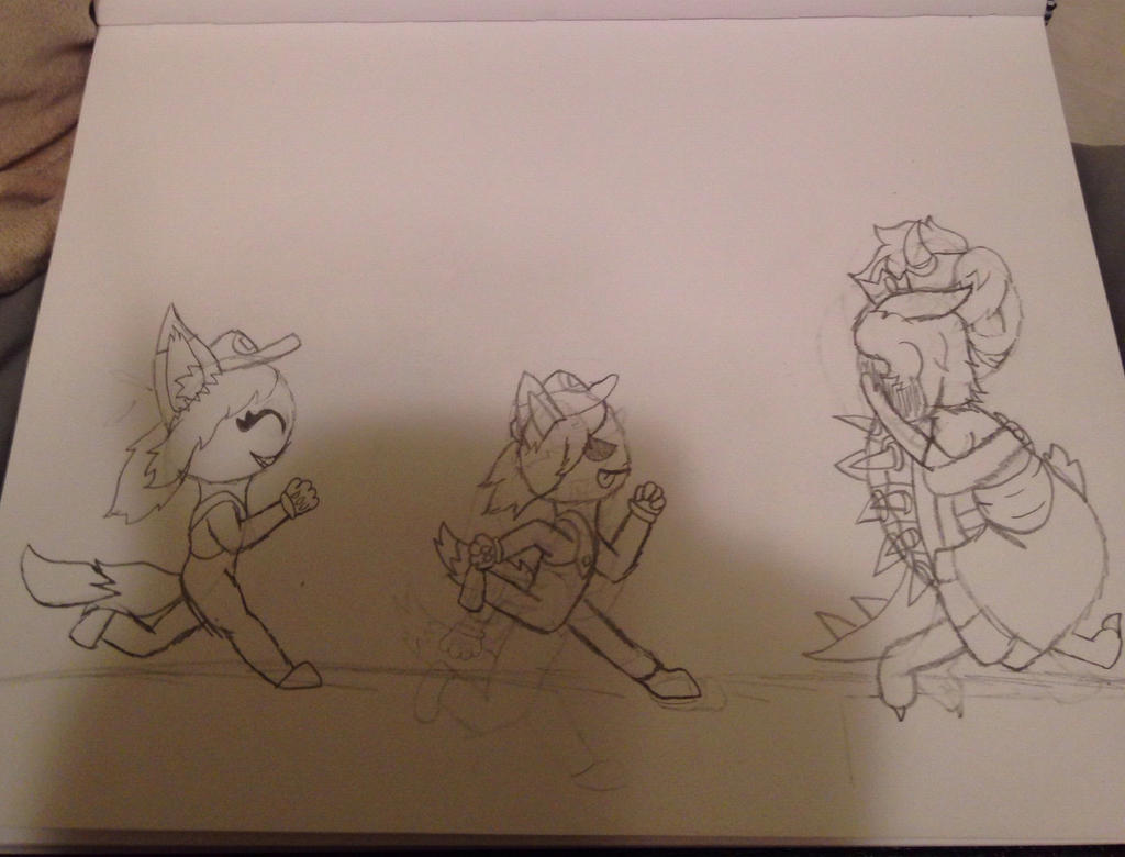 Rough sketch of picture for Bluecupcake01 by Smokecoveredstar