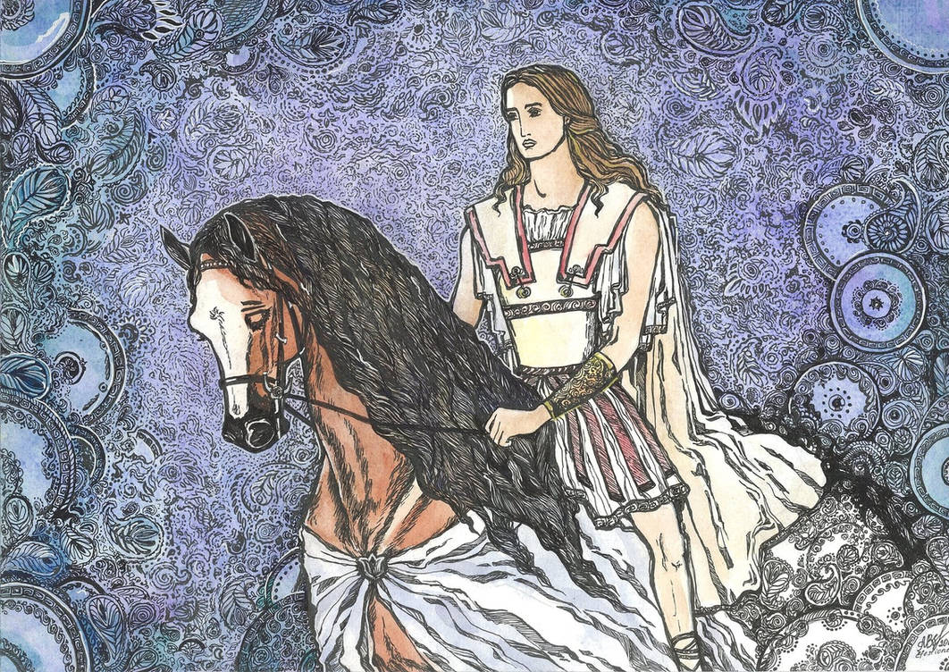 Hephaestion in Twilight by MarysMirages
