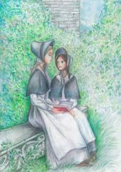Jane Eyre and Helen Burns by MaraEmerald