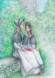 Jane Eyre and Helen Burns by MarysMirages