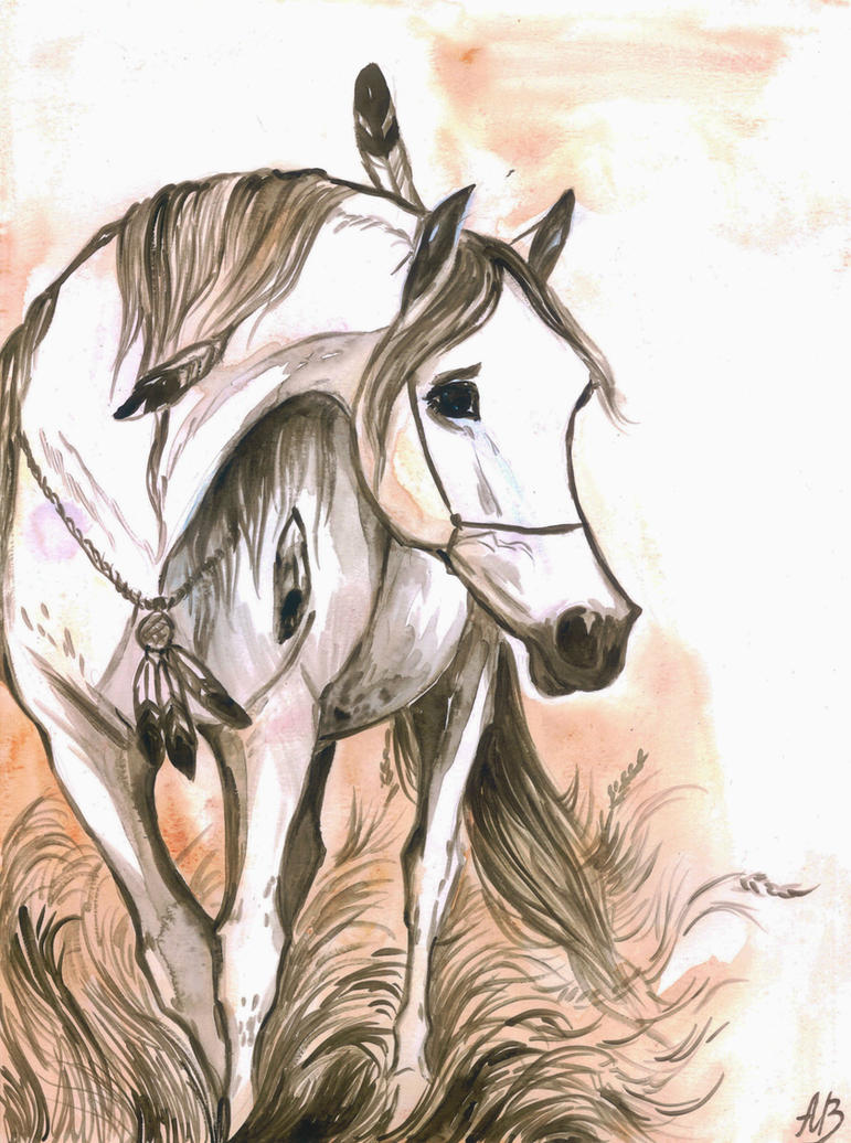 Arabian horse by Ephaistien