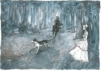 Jane Eyre meets Rochester. by Ephaistien