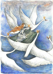 Wild swans. Elisa and her brothers by Ephaistien