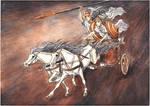 Bronze Age Charriot. Achilles. Patroclus. Iliad by Ephaistien