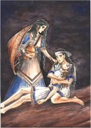 Thetis. Achilles mourns Patroclus (New Armour) by Ephaistien
