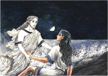 Patroclus's Shadow and Achilles (Iliad). by Ephaistien