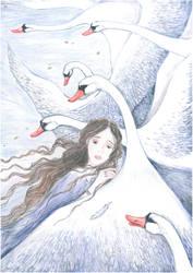 Take me away, white swans by Ephaistien
