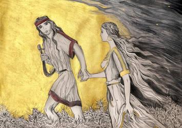Orpheus and Eurydice 3 by Ephaistien