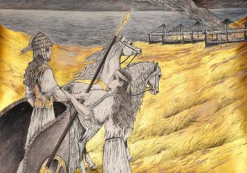 The Last Battle of Patroclus 3 (Iliad) by Ephaistien