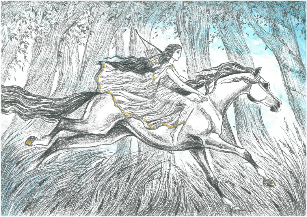 Aredhel Ar-Feiniel (White Lady of the Noldor) by Ephaistien