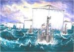 A thousand ships (Iliad. Achilles. Patroclus) by Ephaistien