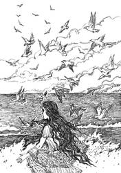 The cries of seagulls (Illustration to the poem) by Ephaistien