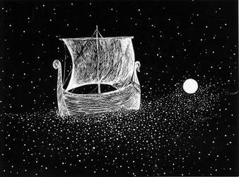Sail away my ship (Illustration to the poem) by Ephaistien
