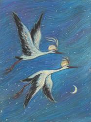 Caliph Stork (Pastel)