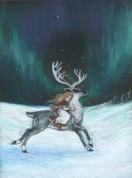 In the northern light (The Snow Queen)