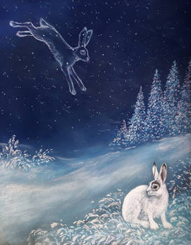 Lepus constellation (astral hare)