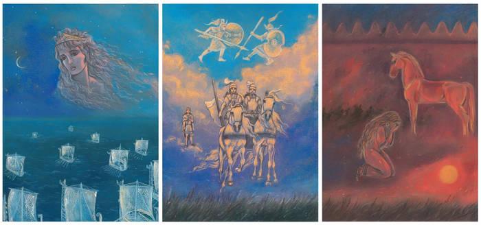 The Iliad (Entire triptych)