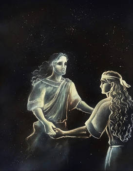 Achilles and Patroclus' shadow (V version)