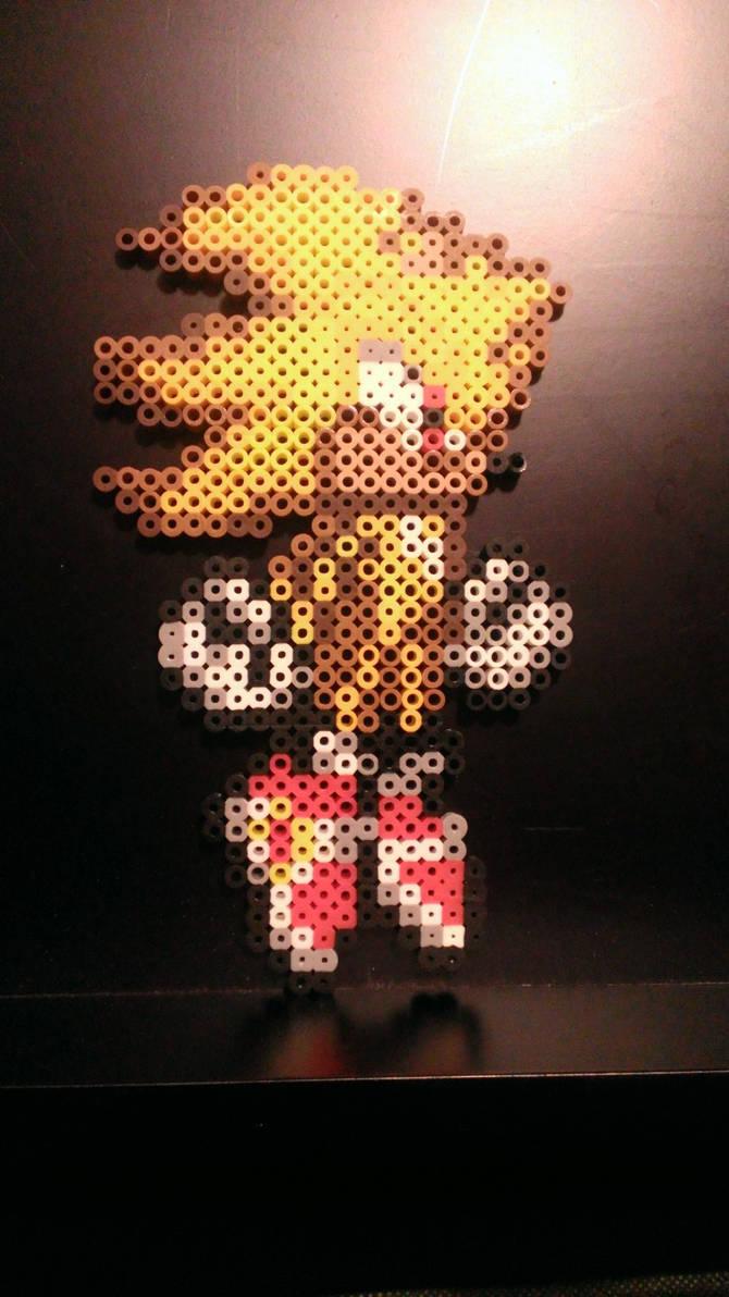 Perler Bead Super Sonic By Jeubanart On Deviantart