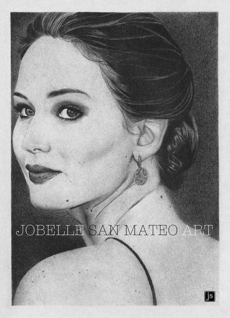 Jennifer Lawrence Drawing by jsanmateo