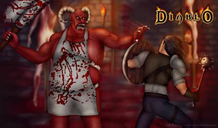 The Butcher VS Aidan (warrior) Diablo 1 wallpaper by AdamBurnley