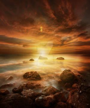 Sea Sunset Premium Stock by Aerwyna-designs
