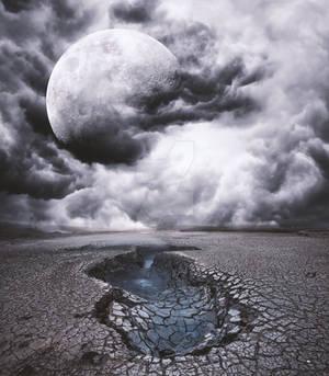 Desert Moon Stock