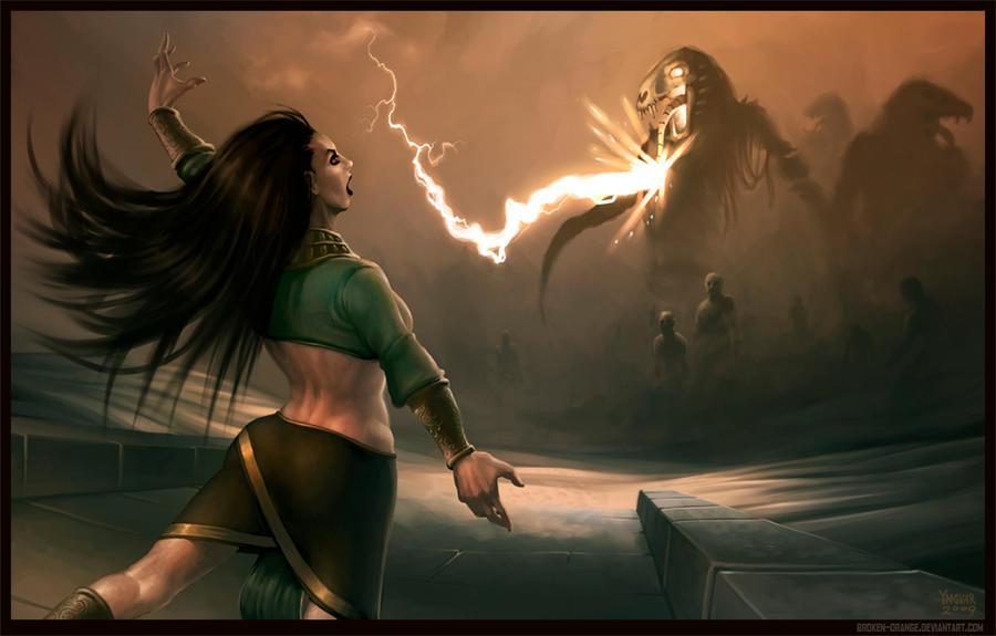 Sorceress by YngvarAsplund