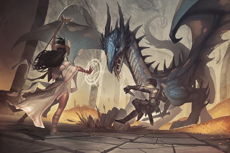 Dragon Fight by YngvarAsplund
