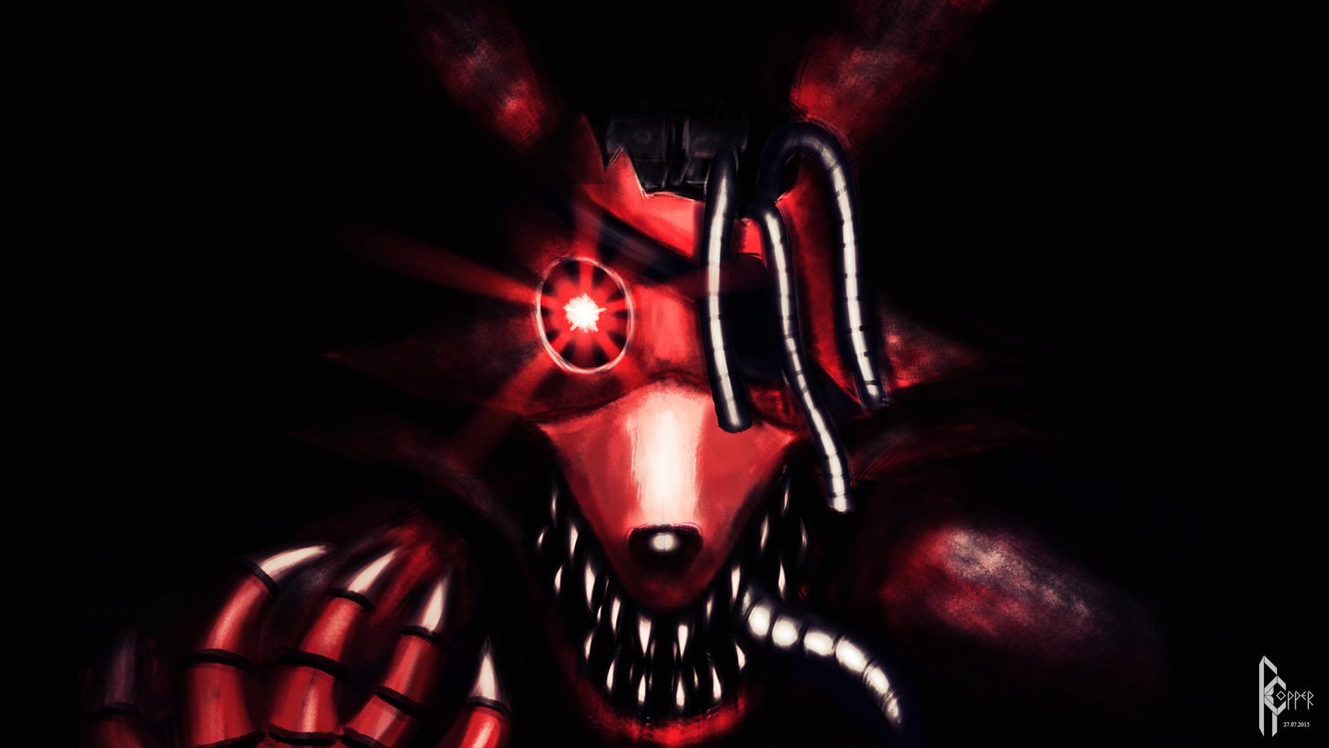 nightmare Foxy wallpaper by fnaf-fan12334 on DeviantArt