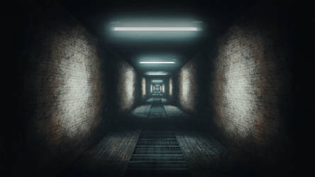 Infinite Hallway (Speedpainting) by RobertCopper