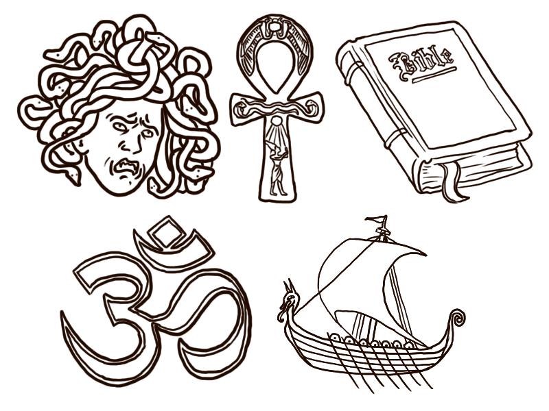 Mythology Icons Picture, Mythology Icons Image