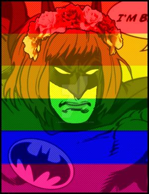 Rainbow'd Batman by Anomalies13
