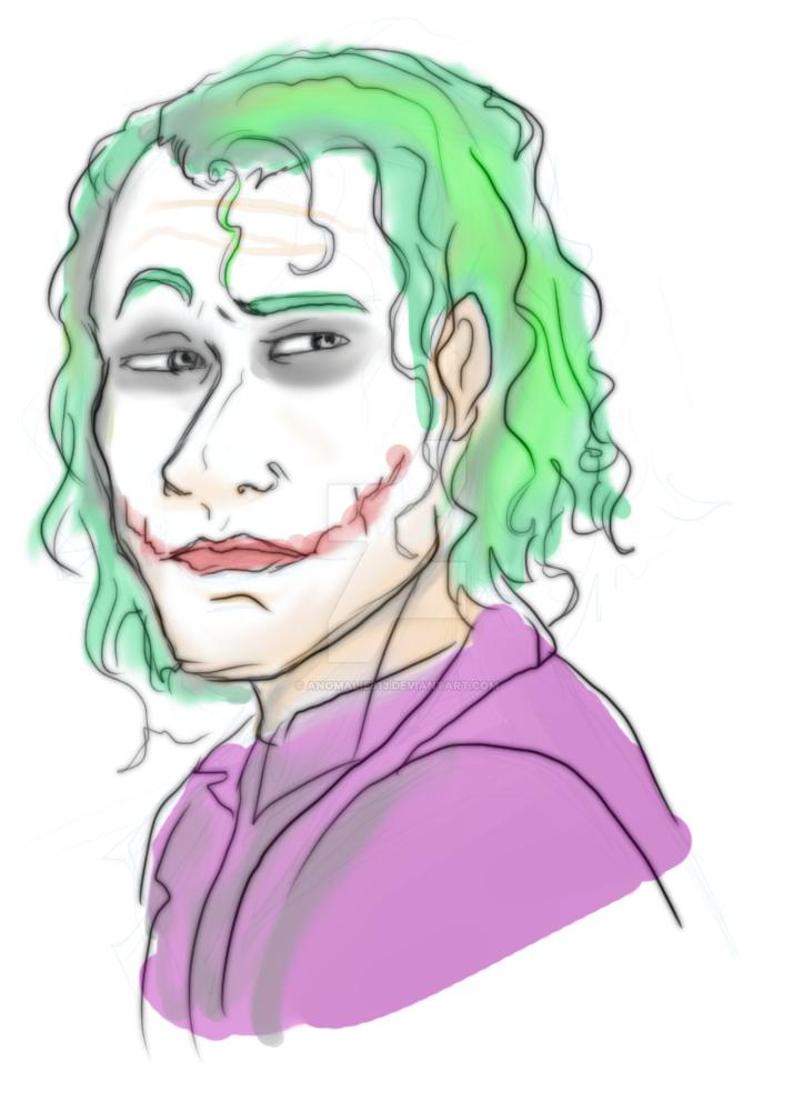 Tumblr Sketch of Joker by Anomalies13