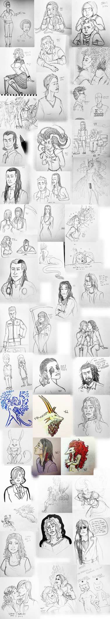 Sketch Dump 2014 to 2017 by Anomalies13