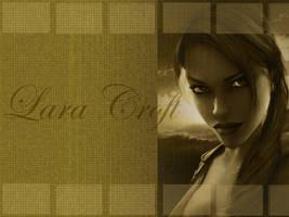 Lara Croft - Wallpaper by garnet2424