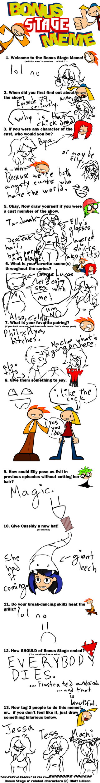 Bonus Stage Meme by gleefulcynic