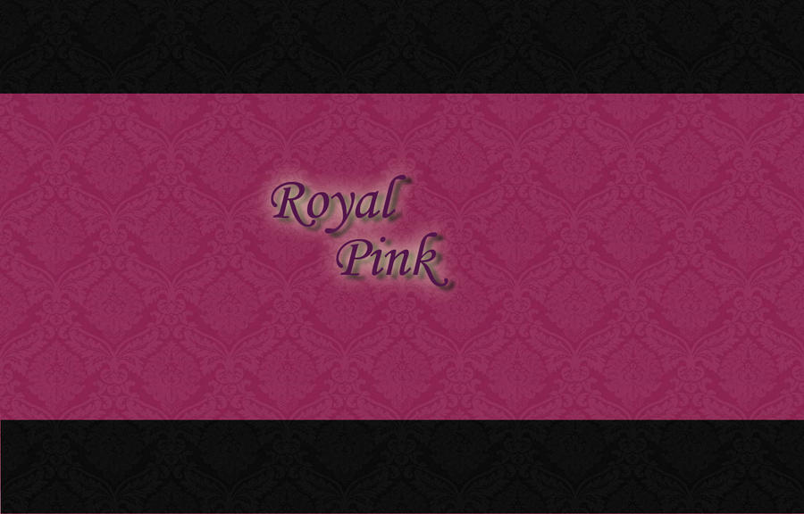 Royal Pink N Black Wallpaper By