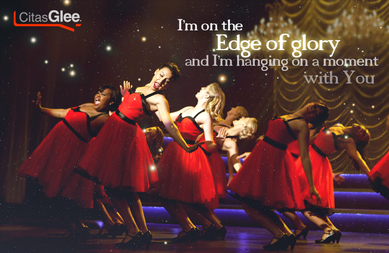Resultado de imagen de glee the edge of glory
