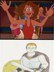 Hercules(my version) mobed by crazy fan girls