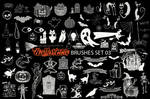 SPOOKY HALLOWEEN BRUSHES