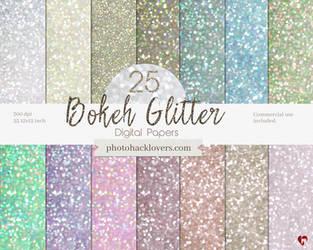 Glitter Bokeh Digital Paper- Cover by imakestock