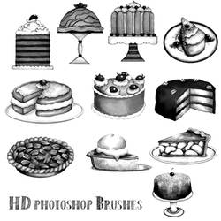 Photoshop Brushes Hd Cakes N Pies by imakestock