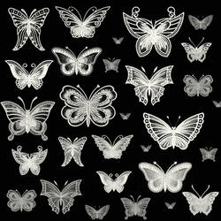 Lace butterfly brushes by imakestock