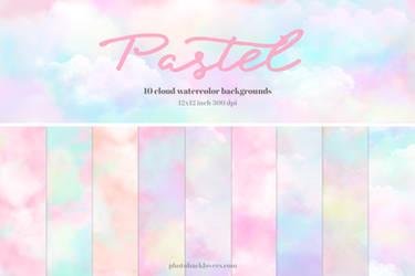 pastel watercolor digital paper