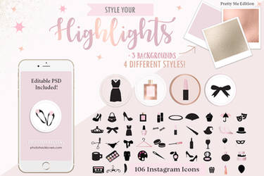 rose gold highlight icons