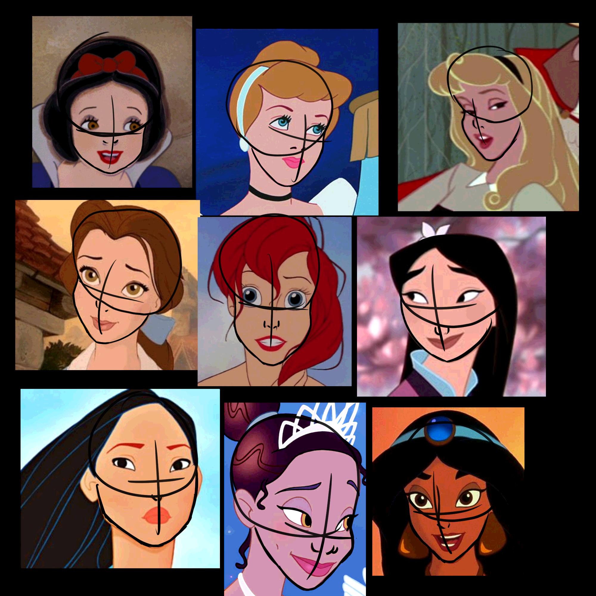Disney Faces Sketch By Karen Donna On Deviantart