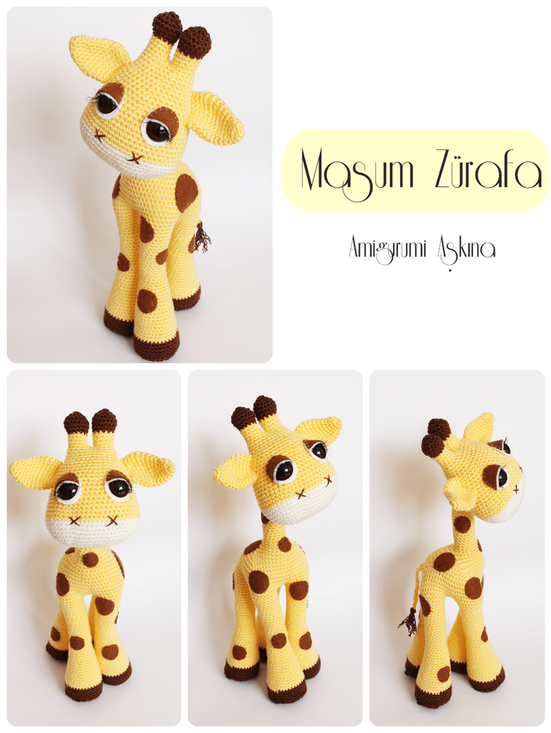 Amigurumi Giraffe : Amigurumi Giraffe by amigurumiaskina on DeviantArt