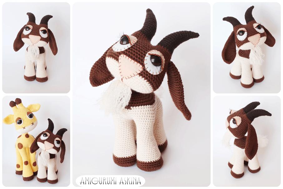Amigurumi Goat Free Pattern | 607x907