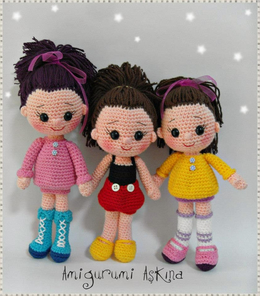 Amigurumi Pattern Dolls : Amigurumi dolls by amigurumiaskina on DeviantArt